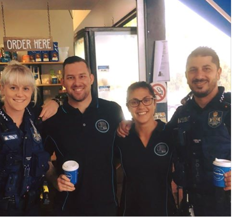 Coffee Shop Staff & Police