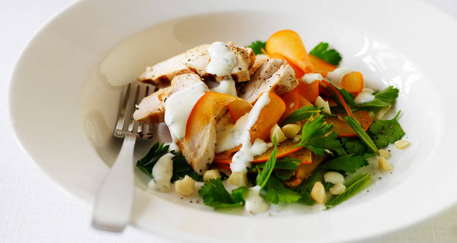 Persimmon-Herb-Chicken-Salad